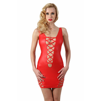 robe rouge courte stretch