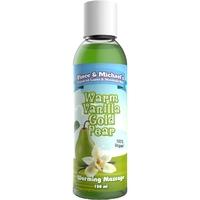 Huile de massage chauffante poire vanille 150 ML