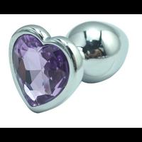 Rosebud anal violet coeur Small 7 x 2.5 cm