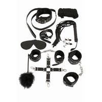 Kit domination SM 10 pièces en cuir noir