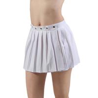 Jupe blanche portefeuille plissée