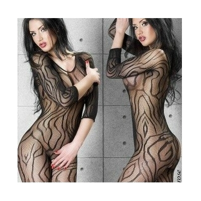 "Bodystocking résille manches 3/4 ""Chilirose"""