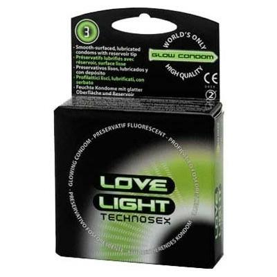 Préservatifs LOVE LIGHT technosex x3
