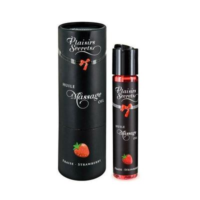 Huile de massage gourmande fraise PLAISIR SECRET