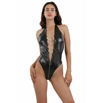 Body fétish ouvert avec chainettes.