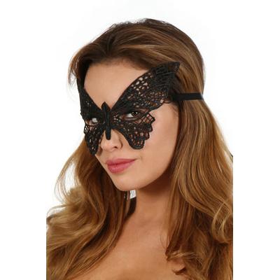 Masque brodé noir papillon