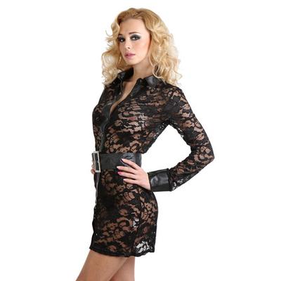 robe-dentelle-col-ceinture-soisbelle-profil