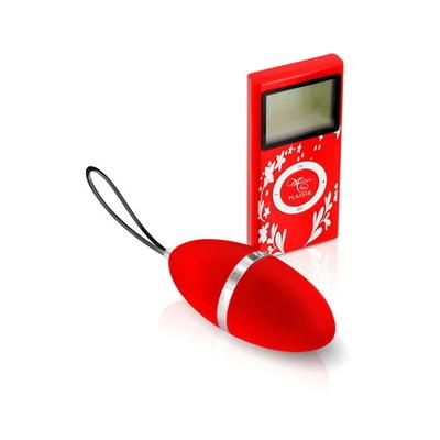 Oeuf vibrant télécommandé PLAISIR SECRET rouge.