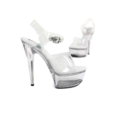 Chaussure plateforme transparente