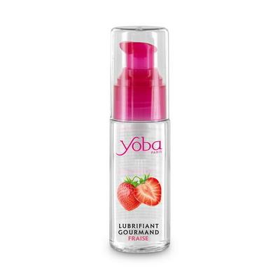 Flacon de lubrifiant lechable fraise 50ml Yoba