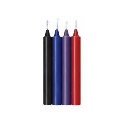 Bougies SM lot de 4 colorées
