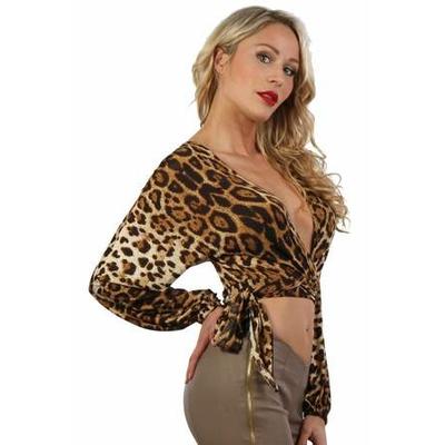 Top manches longues léopard