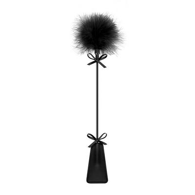 Cravache mini pompons noir