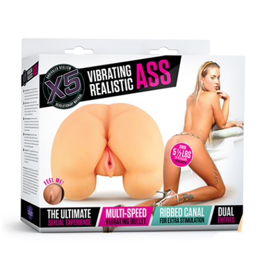 X5 VIBRATING REALISTIC ASS anal -2