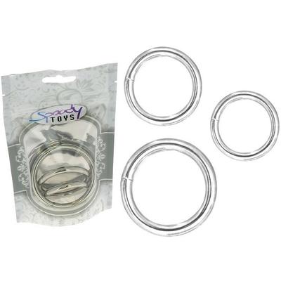 Cockring pack de 3 anneaux métalliques