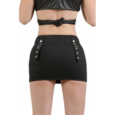 Mini jupe stretch noire