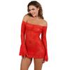 Robe bustier en dentelle Rouge