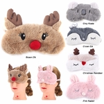 Cute-Animal-Eye-Cover-Sleeping-Mask-Eyepatch-Bandage-Blindfold-Christmas-Deer-Winter-Cartoon-Nap-Eye-Shade
