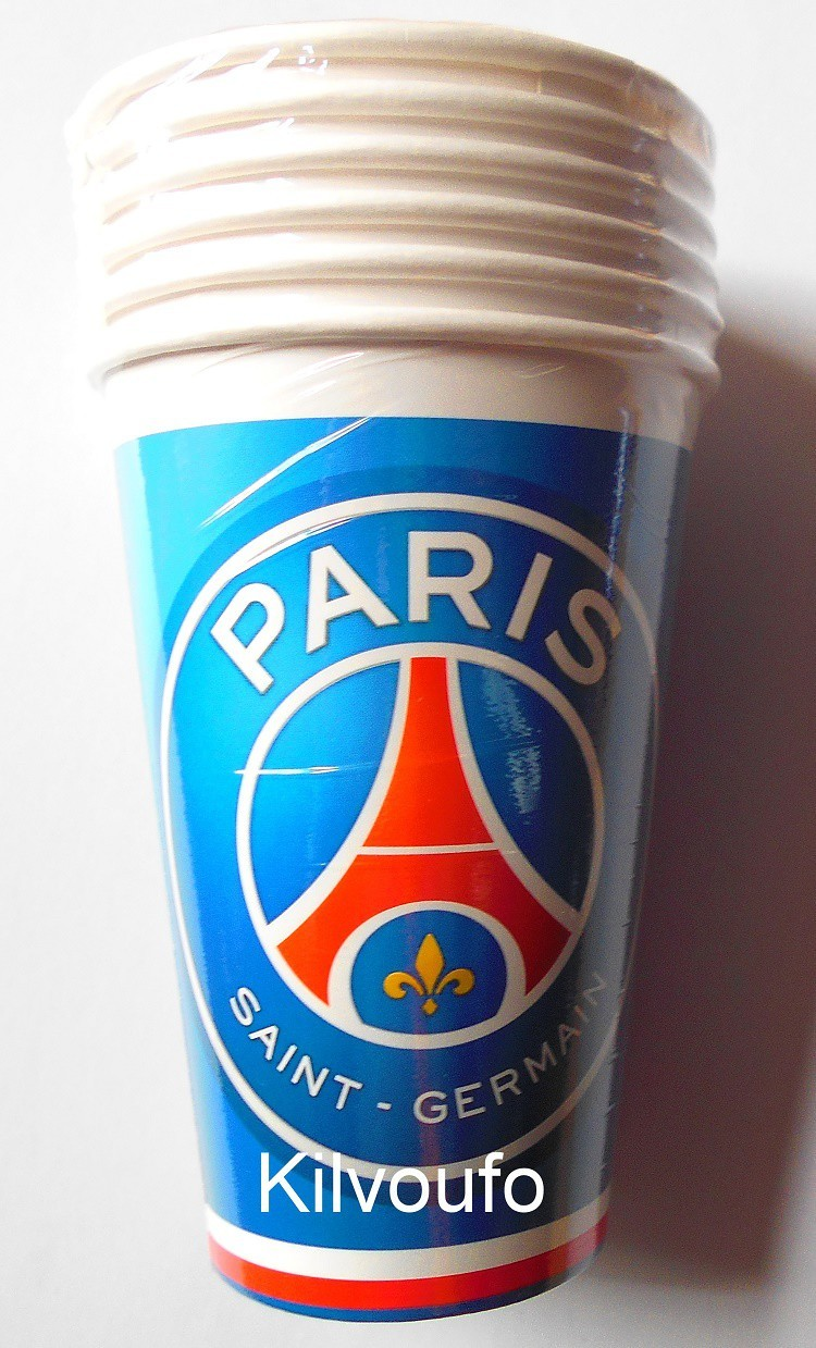 6 Gobelets Paris Saint Germain