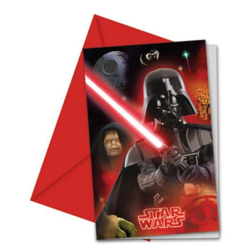 6 Cartes d\'invitation Star Wars