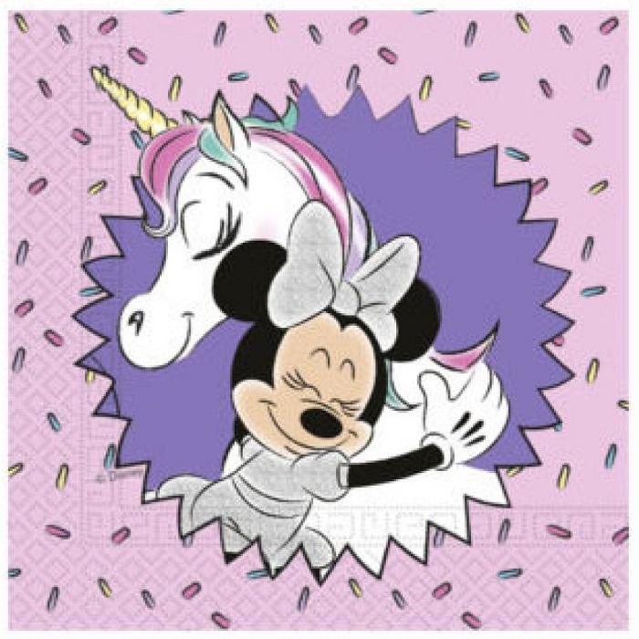 20 Serviettes Minnie et Licorne