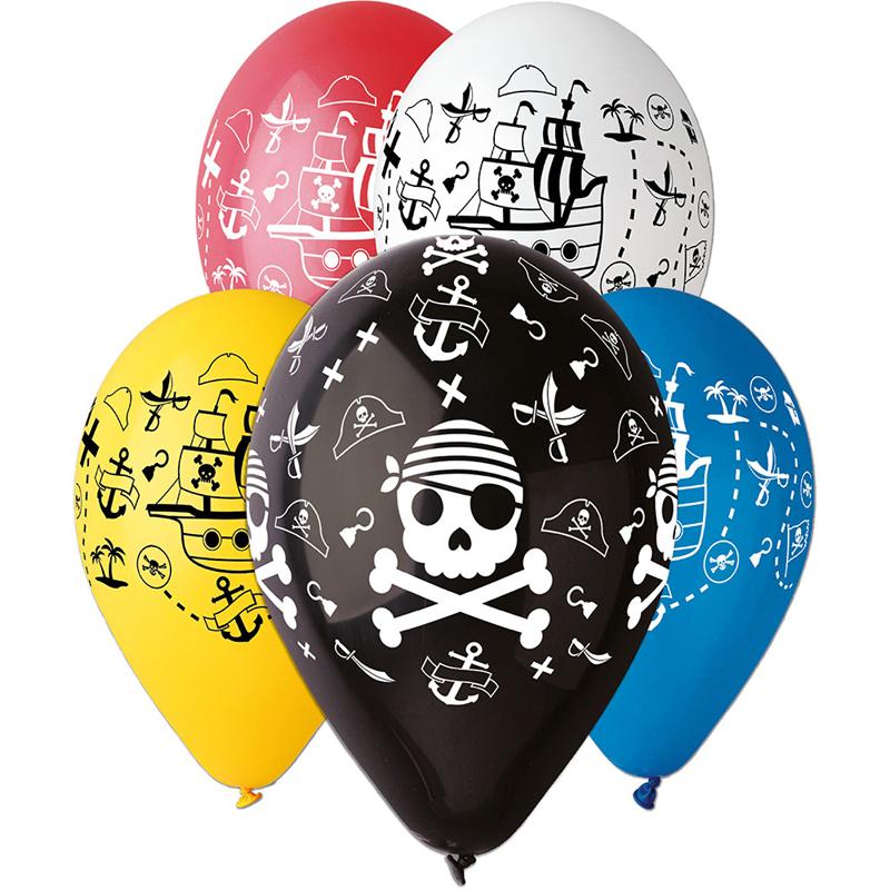 5 Ballons à gonfler Pirates