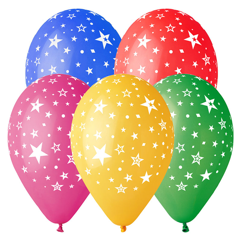10 Ballons à gonfler Etoiles