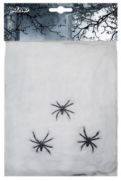 Toile + 1 araignée pour Halloween (20 grs)