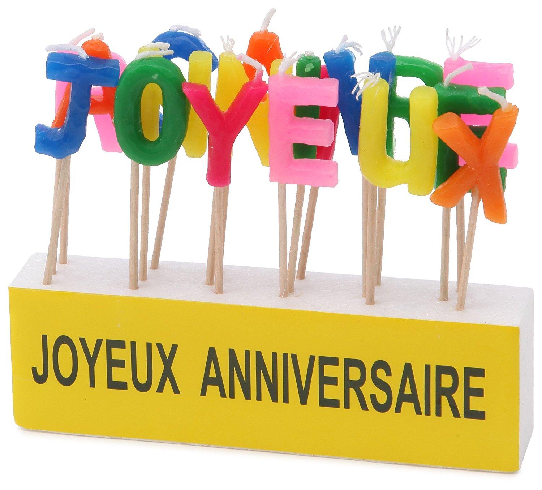 Bougie Lettres Joyeux anniversaire