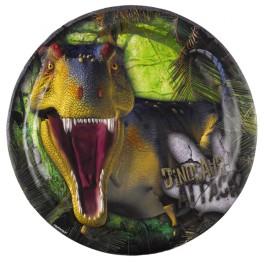 6 Assiettes Dinosaures