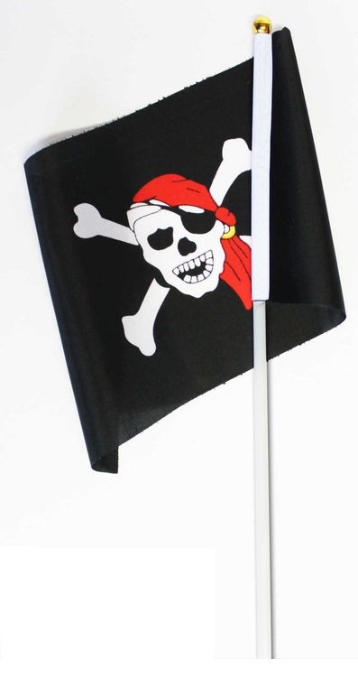 Drapeau Pirates (14x21cm)