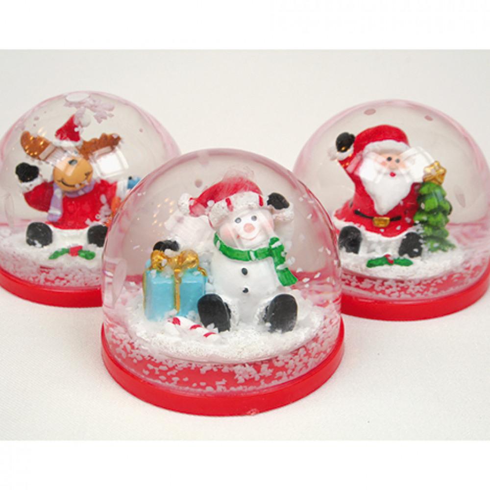 Boule à neige de Noël Renne ou Bonhomme de neige