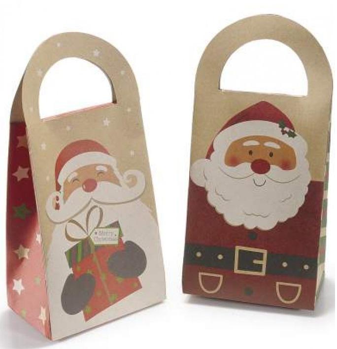 Boîte Cadeau de Noël Vintage pour Arbre de Noël