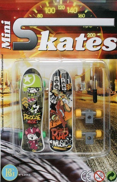 2 Skateboard à doigts
