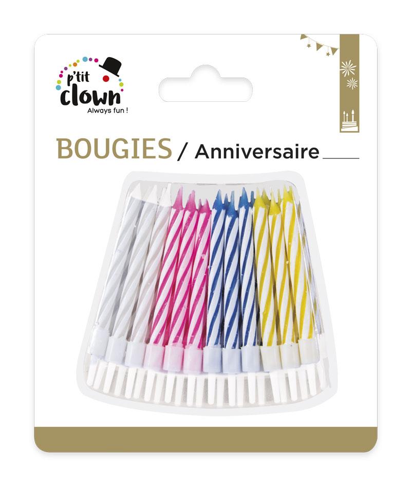 24 Bougies pour anniversaire