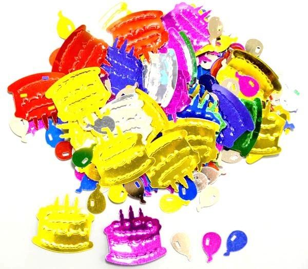 Confetti de table Ballons et gâteaux