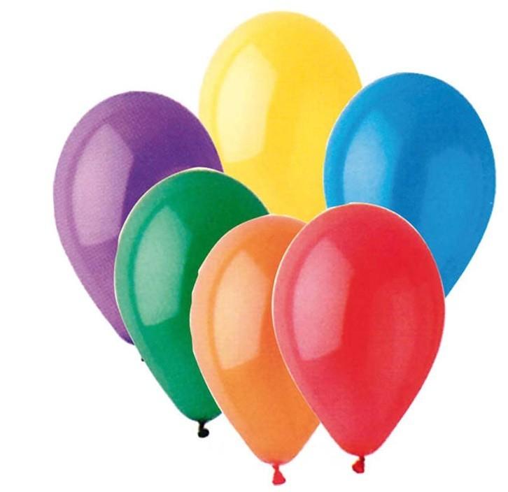 Sachet de 100 ballons couleurs à gonfler