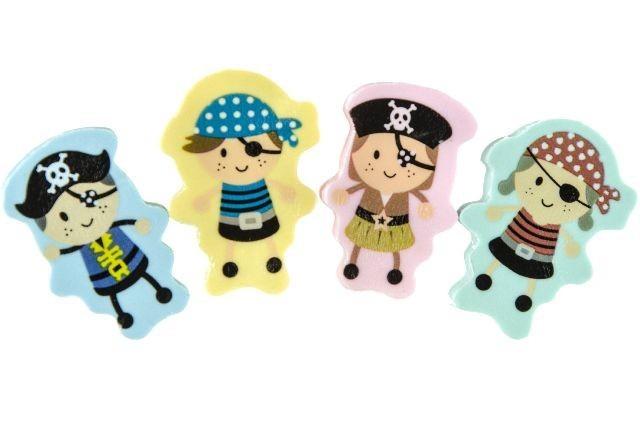 2 Gommes Enfant Pirate