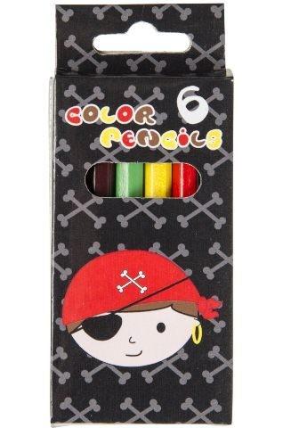 Boîte de 6 crayons de couleurs Pirates