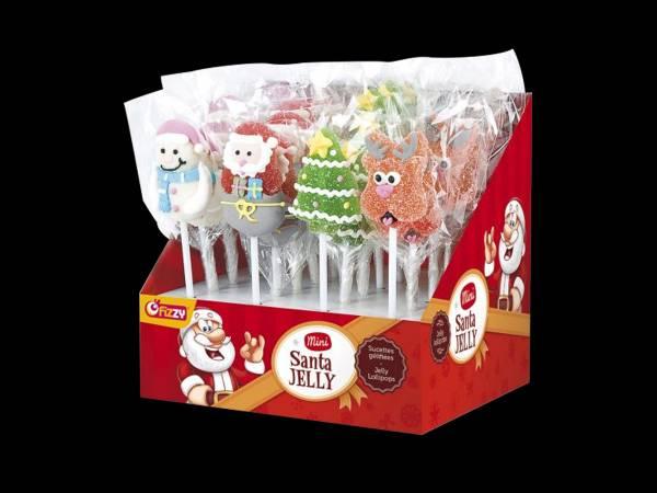 Sucette de Noël avec Père-noël, Bonhomme de neige, renne et sapin