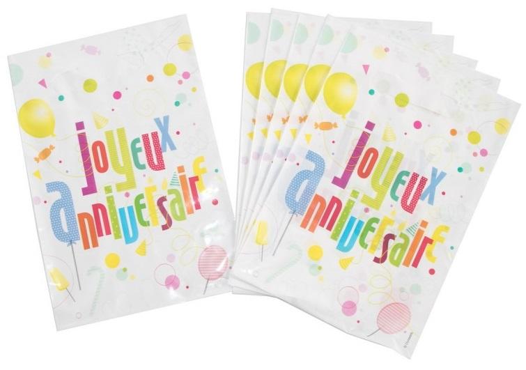 6 sacs de fête Joyeux Anniversaire Fun