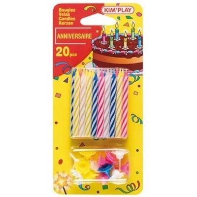 20 Bougies pour anniversaire