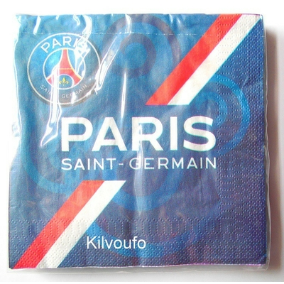 20 Serviettes Paris Saint Germain
