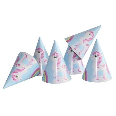 6 Chapeaux de fête Licorne