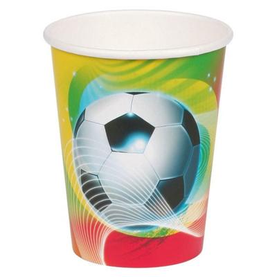 8 Gobelets Football Couleur