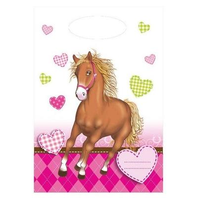 6 Pochettes Cadeaux Cheval d'amour