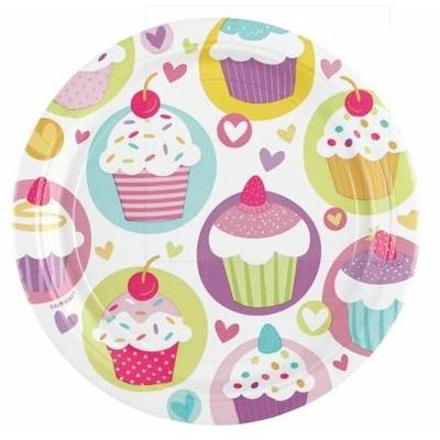 8 Assiettes Cupcakes
