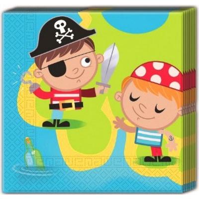 20 Serviettes Les petits pirates