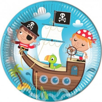 8 Assiettes Les petits pirates