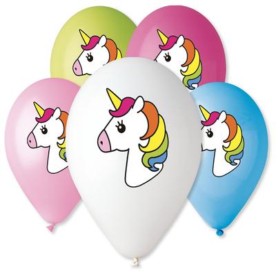 5 Ballons à gonfler Licorne